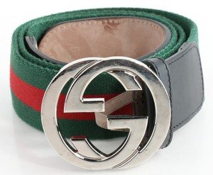 Gucci Red/Green Belt with G Buckle Men's Jewelry/Accessory