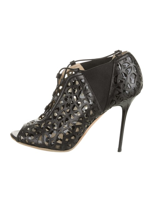 Item - Black Tactic Napa Laser Cut Lace-up Boots/Booties Size EU 37 (Approx. US 7) Narrow (Aa, N)