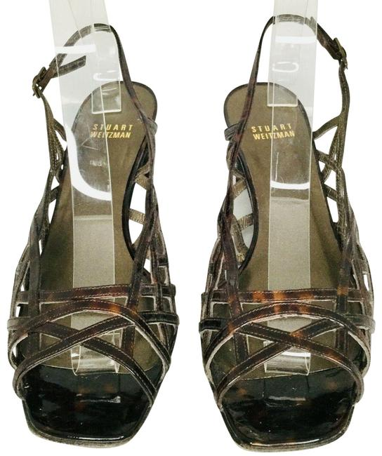 Item - Brown Leather Cut Out Open Toe Heel Pumps Size US 9 Regular (M, B)
