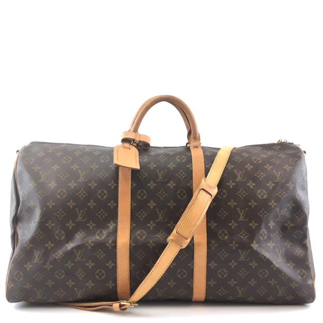 Item - Keepall #42638 with Strap 60 Bandouliere Duffel Brown Monogram Canvas Weekend/Travel Bag