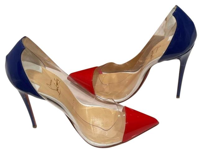 Item - Red White and Blue Deabout Heels Platforms Size US 8.5 Regular (M, B)