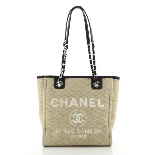 Item - Deauville North South Small Neutral Canvas Tote