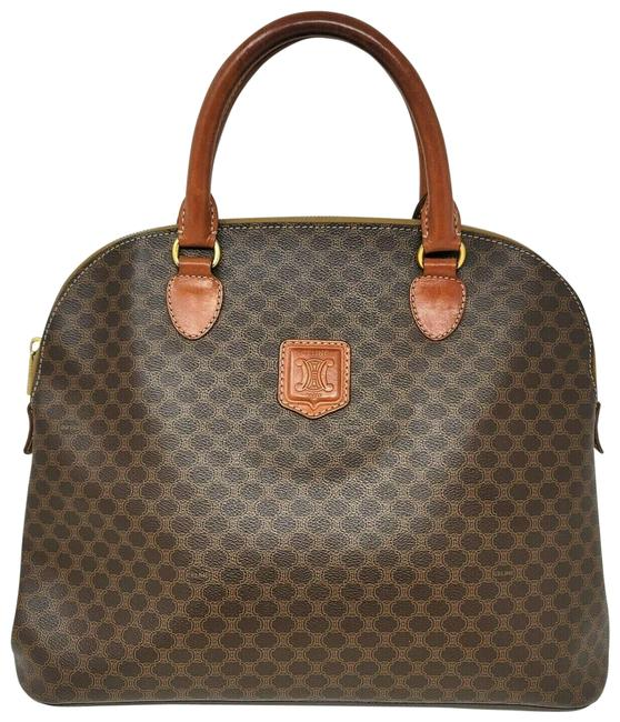Item - Alma Vintage Large Brown Canvas and Leather Tote
