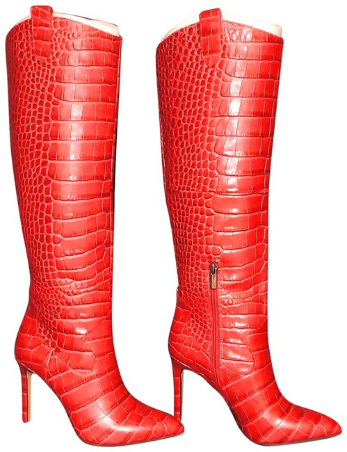 Item - Red Boots/Booties Size US 7 Regular (M, B)