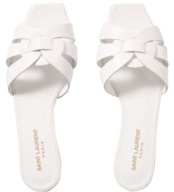 Item - White Nu Pieds Woven Leather Slide Sandals Size EU 36.5 (Approx. US 6.5) Regular (M, B)
