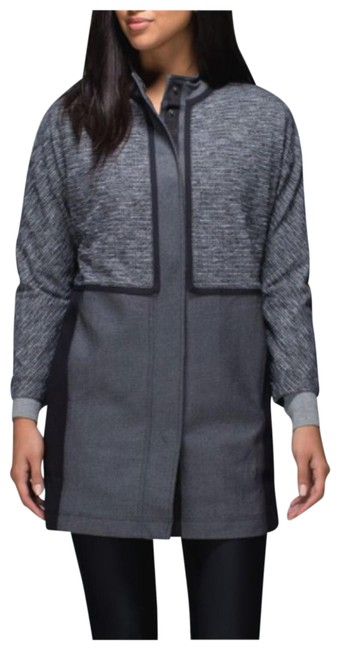 Item - Gray Cocoon Coat Coco Pique Black Women's Small Jacket Size 4 (S)