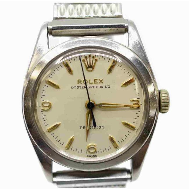 Item - Silver Color Oyster Precision Speedking 6420 1950's Watch