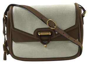 Gucci Derby Canvas Messenger Leather Shoulder Bag