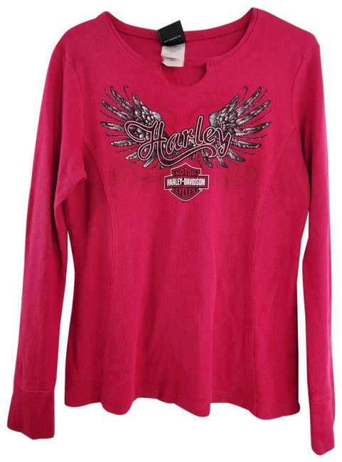 Item - Pink St Cloud Long Sleeve Thermal Blouse Size 8 (M)