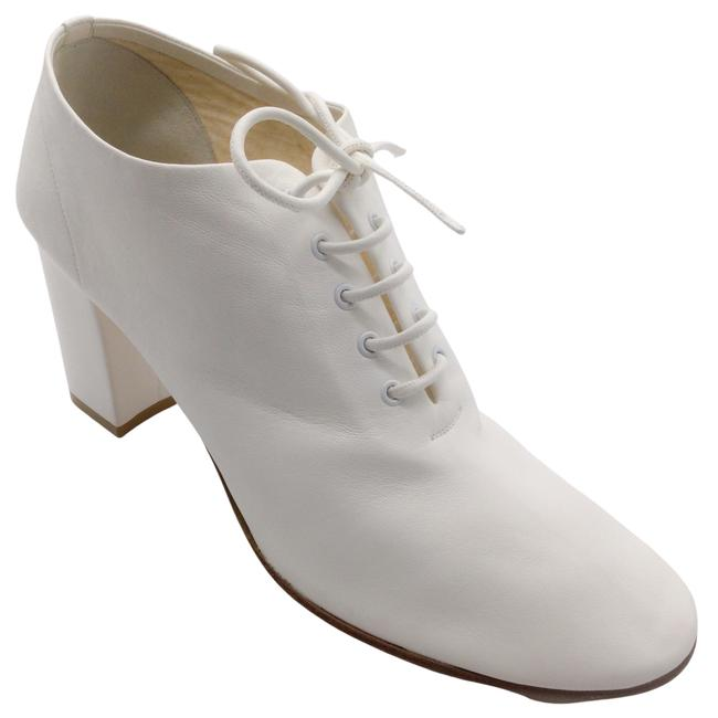 Item - White Soft Dance Leather Boots/Booties Size EU 40.5 (Approx. US 10.5) Regular (M, B)