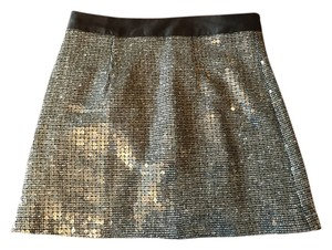 mark. Mini Skirt Silver sequins