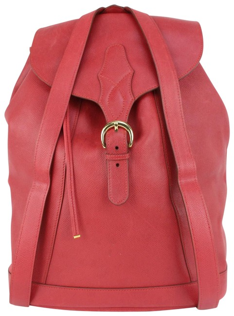 Item - Isabel 51her625 Red Rouge Vif Courchevel Leather Backpack