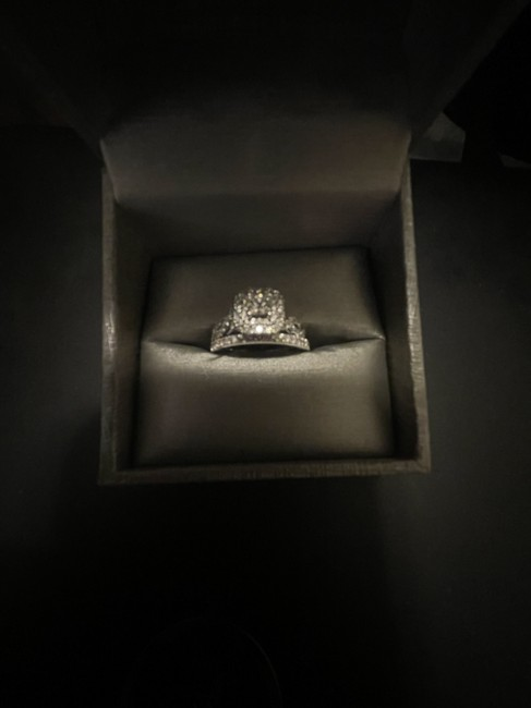 Item - White Gold And Band Engagement Ring