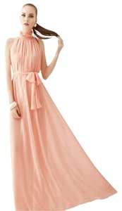 Pink Maxi Dress by Summer Maxi Chiffon Belted Beach