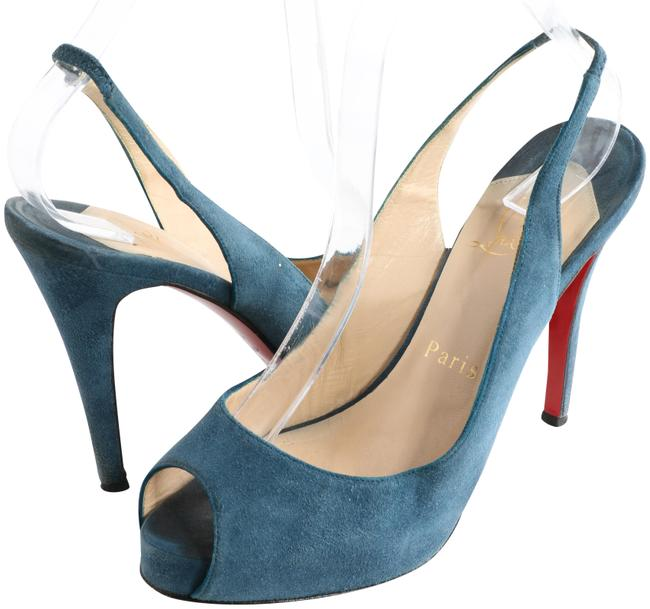 Item - Turquoise Prive 120 Suede Slingback Pumps Size EU 38.5 (Approx. US 8.5) Regular (M, B)