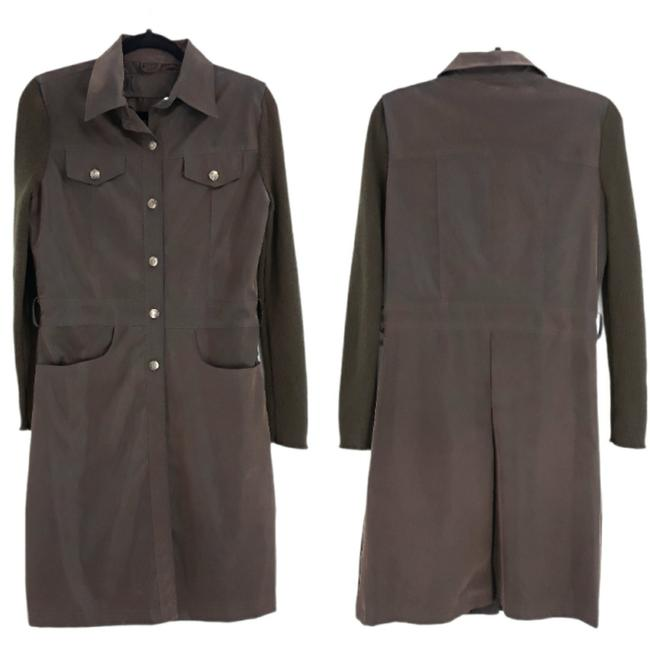 Item - Brown Faux Leather Equestrian Coat Size 4 (S)