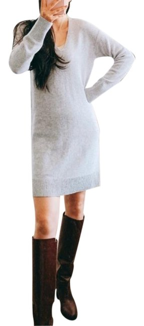Item - Gray Cashmere Sweater Mid-length Work/Office Dress Size 4 (S)