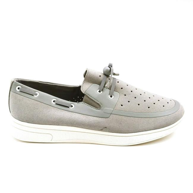 Item - Gray Womans Toggle Lace Up Boat Flats Size US 10 Regular (M, B)