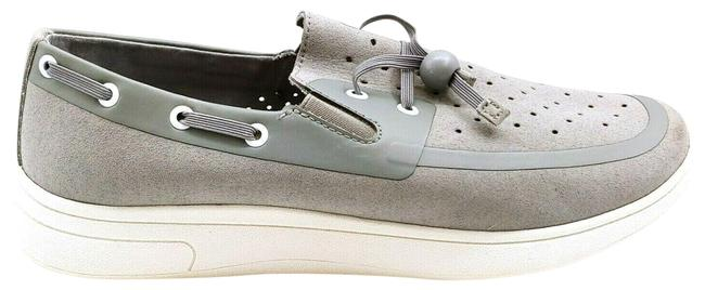 Item - Gray Womans Toggle Lace Up Boat Flats Size US 7 Regular (M, B)
