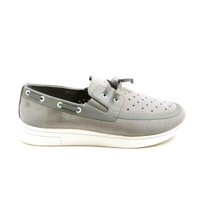 Item - Gray Womans Toggle Lace Up Boat Flats Size US 9.5 Regular (M, B)