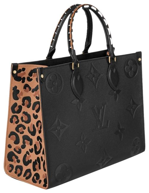 Item - Onthego Wild At Heart Mm Wild At Heart Capsule Jungle Limited Edition Black Empreinte Leather Tote