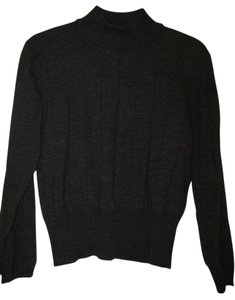 Lord & Taylor 100% Merino Wool Mock Turtleneck Sweater