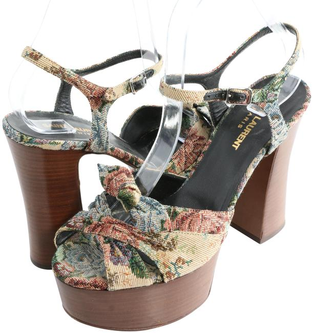Item - Multicolor Candy Natural Tapestry Wooden Sandals Platforms Size EU 38.5 (Approx. US 8.5) Regular (M, B)