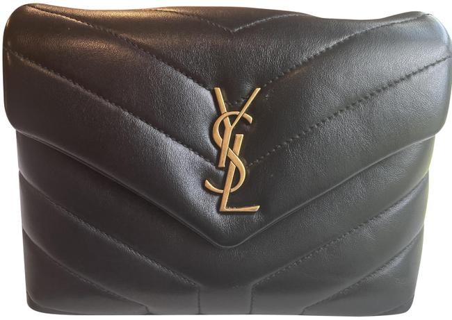 Item - Monogram Loulou Lou Black with Gold Hardware Leather Cross Body Bag