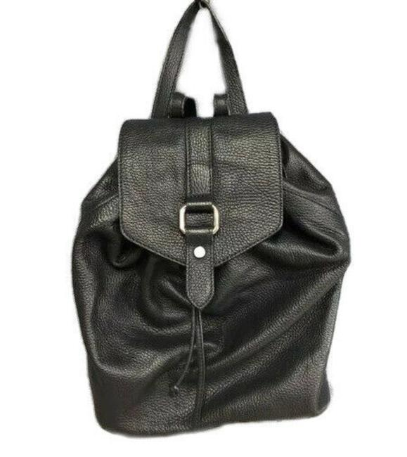 Item - Pebbled Purse Made In Italy Leather Backpack