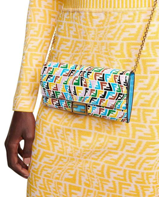 Item - New Ff Chain Wallet Multicolor Leather Cross Body Bag