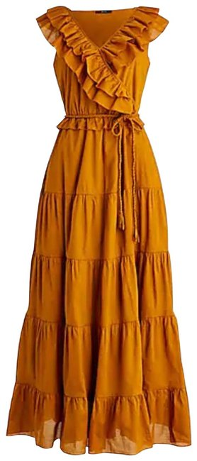 Item - Russet/Brown Ruffle Front with Braided Belt Long Casual Maxi Dress Size 4 (S)