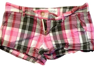 Aéropostale Shorts Pink Plaid