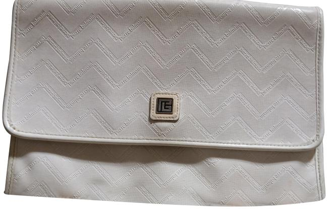 Item - Cream Leather Coated Canvas Clutch