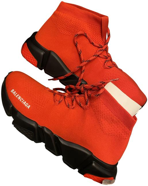 Item - Red Speed Trainer Lace-up Sneakers Size US 8 Regular (M, B)