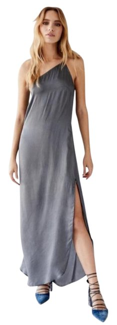 Item - Gray Free People Kyle One Shoulder Long Night Out Dress Size 12 (L)