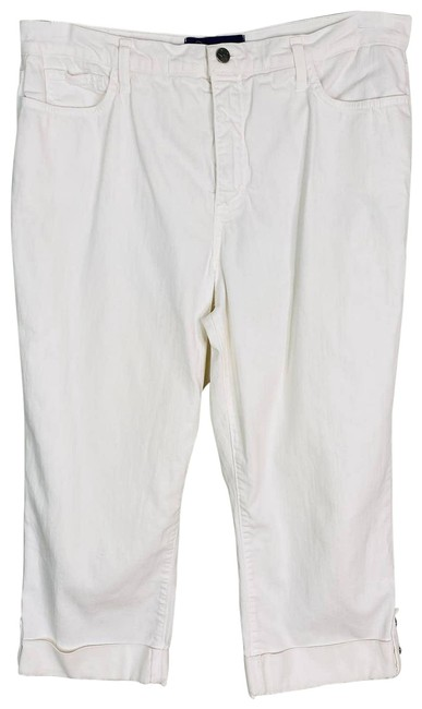 Item - White Not Your Daughters Cuffed Rhinestones 12 Capri/Cropped Jeans Size 34 (12, L)