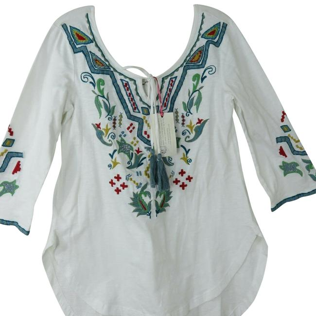 Item - White New Embroidered Felicia Tunic Blouse Size 0 (XS)