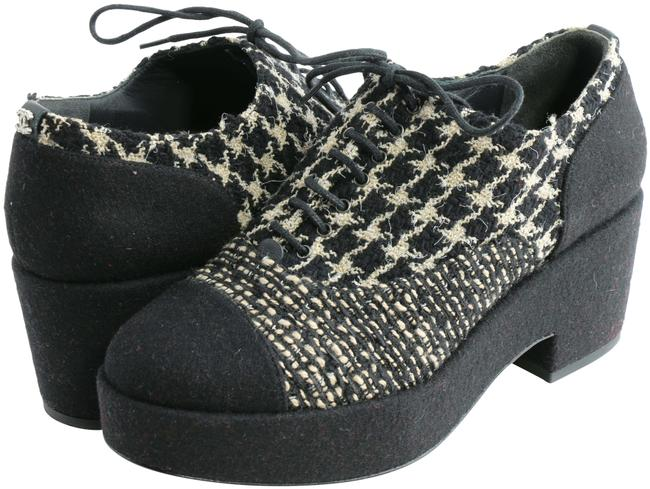 Item - Multicolor Tweed and Felt Lace Up Platform Sneakers Formal Shoes Size EU 38 (Approx. US 8) Regular (M, B)
