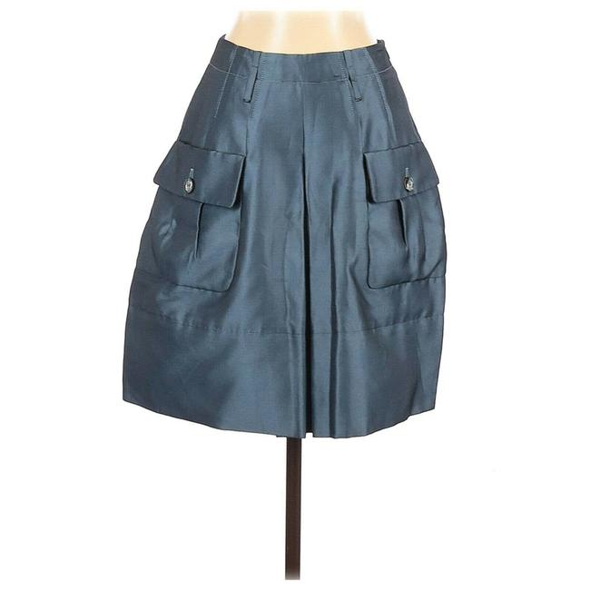 Item - Blue Short Womens Us A-line Pleated Gray Skirt Size 4 (S, 27)