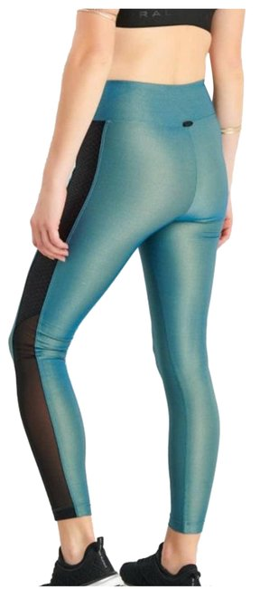 Item - Blue XS Serendipity Iridescent High Rise Oceanside In Green Activewear Bottoms Size 2 (XS, 26)