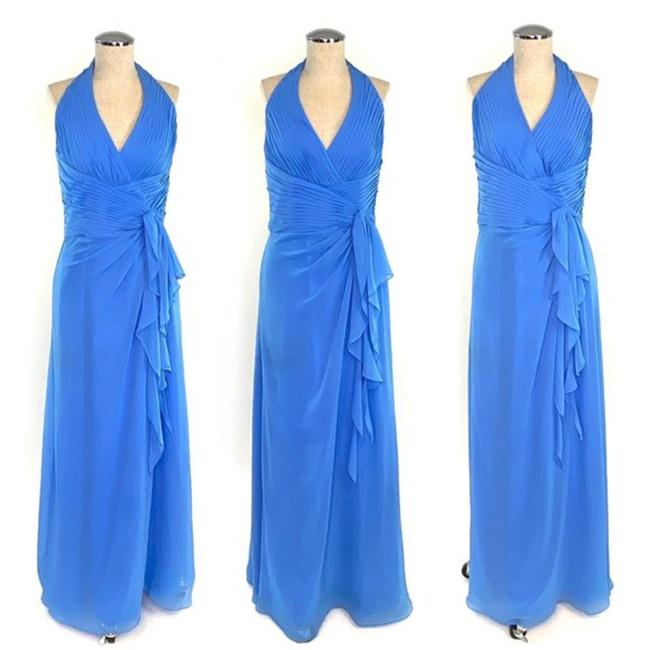 Item - Blue Traditional Bridesmaid/Mob Dress Size 6 (S)