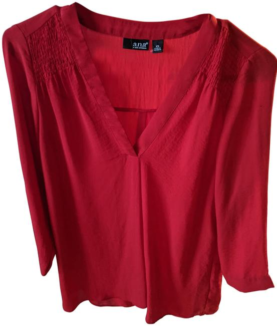 Item - Red Loose Fit Blouse Size 2 (XS)