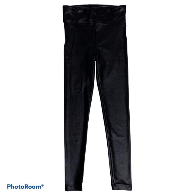 Item - Black Lustrous Infinity High Rise Shiny Small Activewear Bottoms Size 4 (S, 27)