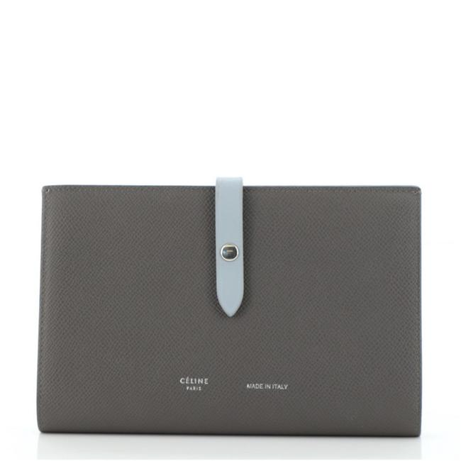 Item - Gray Multifunction Strap Leather Large Wallet