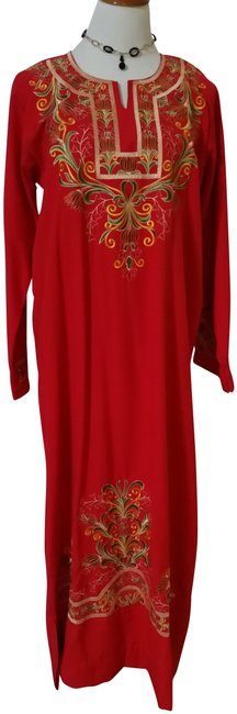 Item - Red Long Casual Maxi Dress Size 10 (M)