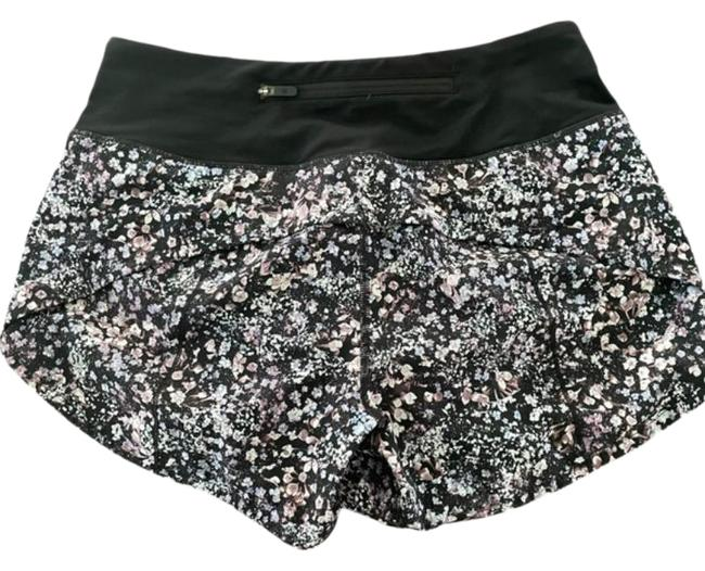 """Item - Black Purple Speed Up Floral 4"""" Shorts Size 4 (S, 27)"""