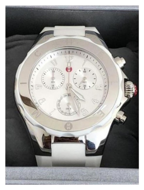 Item - Silver/White Jelly Bean Chronograph Watch