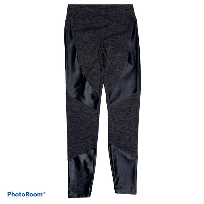 Item - Dark Gray Heather and Black XS Forge Paneled Mid-rise Activewear Bottoms Size 0 (XS, 25)