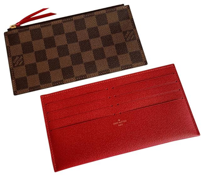 Item - Damier Ebene Red Felicie 2 Inserts : Credit Cards and Zippy Wallet