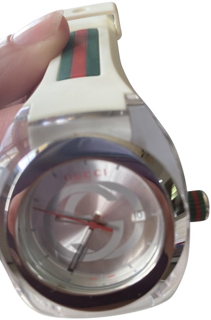 Item - White Unisex Sync Rubber Watch